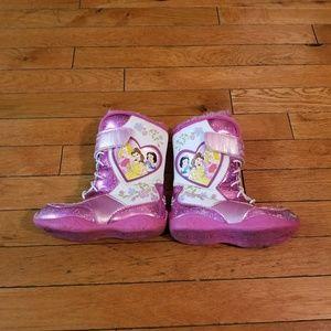 Disney Princess toddler girl snow boots 10